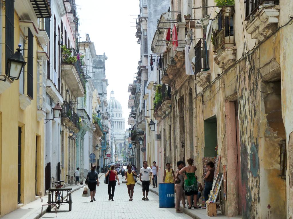 Havanna Straße mit Capitol