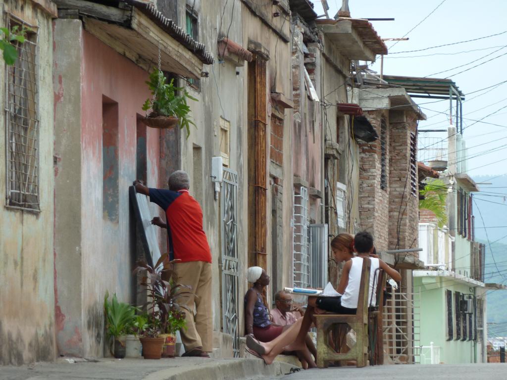 In Kuba lernt man auf der Straße